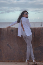 Meiling shirt - Topshop pants - Dolce & Gabbana glasses