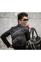 Zara jacket - Fred Perry bag - alberto vanetti glasses