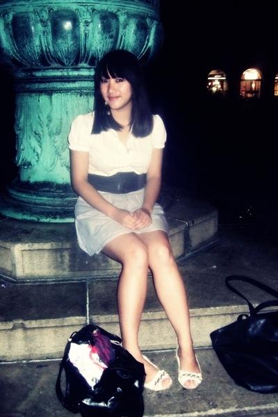 Mango blouse - skirt - shoes