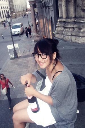 dress - glasses
