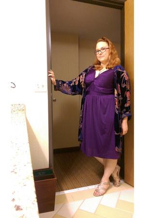 purple dress barn dress