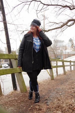 black DSW boots - black Black Rivet coat - black Target sweater