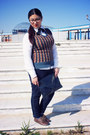 Brown-lc-waikiki-shoes-dark-blue-lc-waikiki-jeans-white-sisley-shirt
