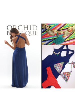 navy maxi maxi dress The Collection dress - bikini LSpace swimwear