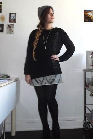 heather gray aztec dress