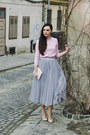 Pink-front-row-shop-top-tulle-oasap-skirt-nude-zara-heels