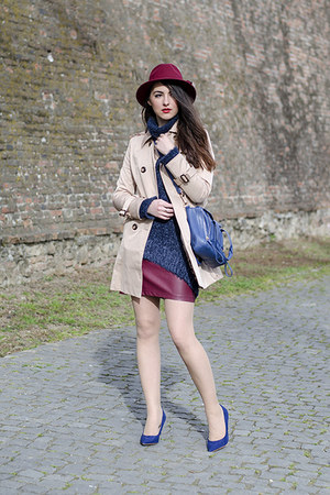 ruby red Ecua-Andino Hats hat - tan PERSUNMALL coat - H&M sweater