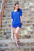 blue Zara shorts - blue Zara sandals