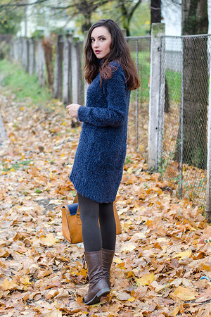 Stradivarius bag - navy H&M sweater