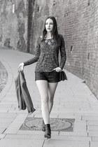 black H&M boots - black Zara shorts