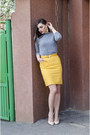 Heather-gray-zara-sweater-zara-heels-gold-h-m-skirt