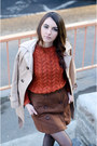 Persunmall-coat-h-m-sweater-fishbone-skirt