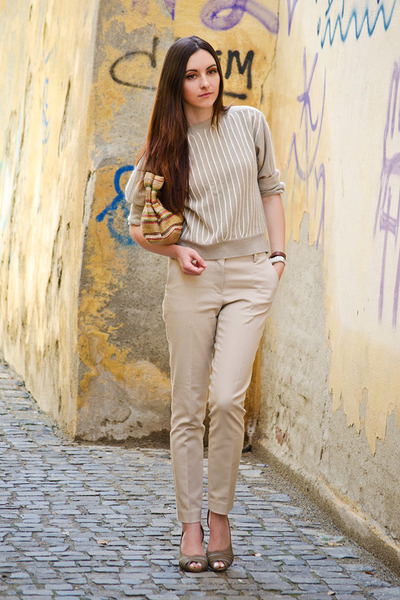 neutral Zara pants