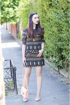 Sheinside dress - H&M bag - Zara heels