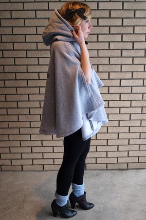 silver hood cape Finn CulturedCult vest - black Deena & Ozzy shoes