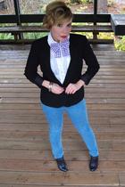 BDG jeans - SilenceNoise blazer - Deena&Ozzy boots - Zara blouse