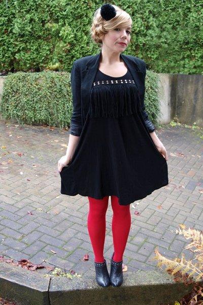 urban behavior dress - Urban Outfitters belt - SilenceNoise blazer - HUE tights