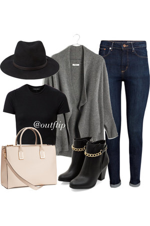 black cropped new look top - black ankle boots new look boots