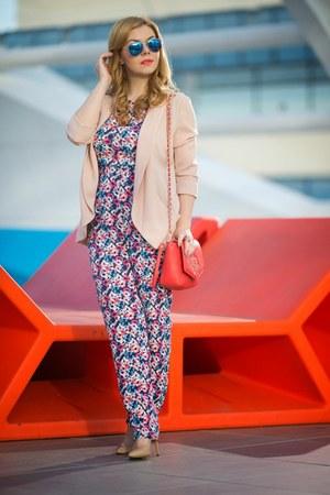 new look blazer - Busta bag - c&a sunglasses - new look romper - Dasharo heels