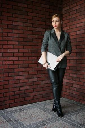 mim blazer - Motivi boots - H&M leggings - asos bag