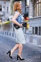 Zara heels - new look jacket - New Yorker bag - Zara top - Zara skirt