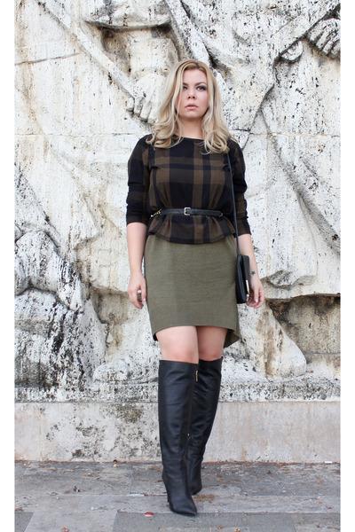 Massimo Dutti dress - asos bag - H&M belt - Vero Moda top