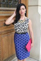 blue Marni skirt - black H&M top