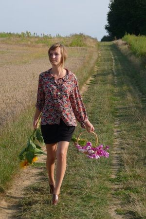 united colors of benetton skirt - vintage blouse