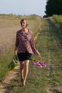 United-colors-of-benetton-skirt-vintage-blouse