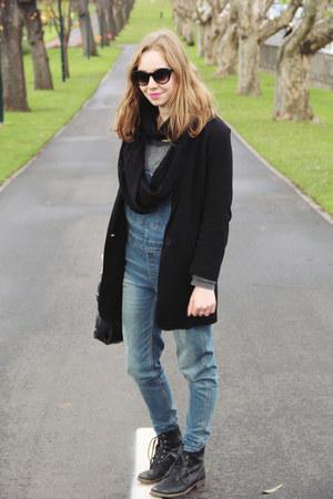 black OASAP bag - black Dotti boots - black blazer Mela Purdie blazer