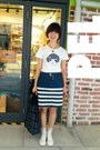 Blue-h-m-skirt