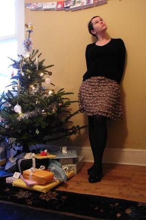 camel Primark skirt - black brora sweater