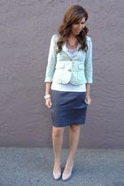 Gap t-shirt - Forever 21 jacket - gray random brand skirt - Nine West shoes - Fo