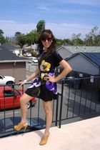 Forever 21 dress - Shoedazzle shoes - Forever 21 sunglasses - Bebe accessories