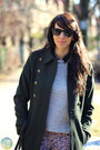 Periwinkle-h-m-sweater-black-macys-boots-dark-green-esprit-coat