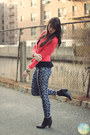 Black-shop-in-amsterdam-boots-navy-printed-jeans-forever-21-jeans