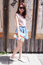 Native Shoes shoes - from japan bag - Maje top - Opening Ceremony skirt