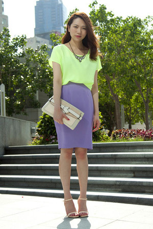 Monki skirt - Reed Krakoff bag - Monki blouse - Zara heels