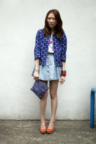 Marni bag - Love Girls Market dress - Marni x H&M blazer - Marni x H&M bracelet