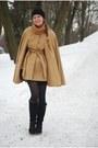 Black-h-m-hat-dark-gray-tamaris-boots-bronze-cable-knit-vero-moda-sweater