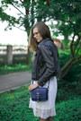 White-seppälä-dress-black-cropped-random-brand-jacket-navy-atmosphere-bag