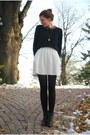 Black-tamaris-boots-white-zara-dress-black-cubus-sweater