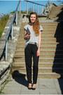 Off-white-paper-selfmade-bag-black-blink-heels-silver-h-m-t-shirt