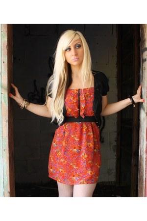 Forever 21 dress - vintage sweater - Target tights - owl asos bracelet - arty YS