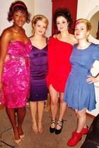 hot pink studded belt Oasis dress - dress