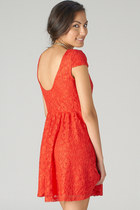 red lace dress PUBLIK dress