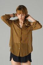 plaid chiffon PUBLIK blouse