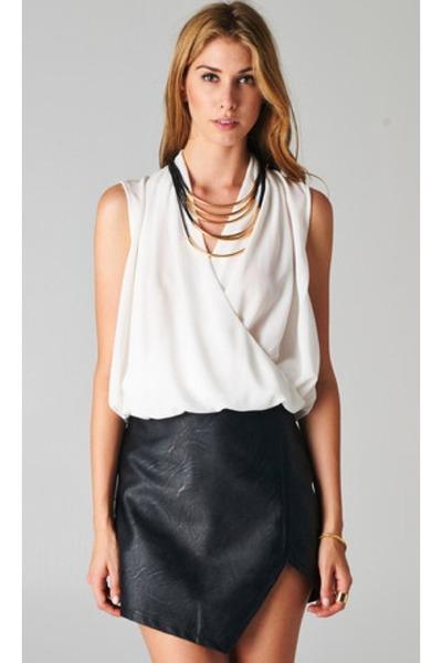 PUBLIK top - PUBLIK skirt - PUBLIK necklace