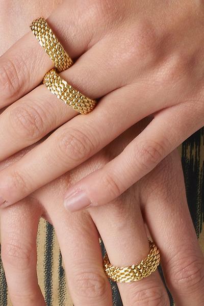 gold PUBLIK ring