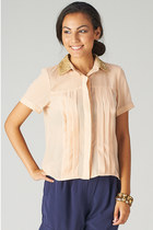 SEQUIN COLLAR CHIFFON TOP